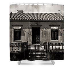 Small Country House With Tiled Roof  Shower Curtain