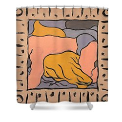 Small Framed Bedscape One Am Shower Curtain by Stan Magnan
