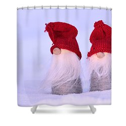 Small Santa Claus Shower Curtain by Tommytechno Sweden