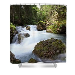 Shower Curtain featuring the photograph Small Stream by Antonio Scarpi