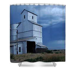 Shower Curtain featuring the photograph Small Town Hot Night Big Storm by Cathy Anderson