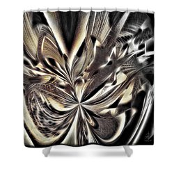 Shower Curtain featuring the digital art Smash And Grab by Pennie  McCracken