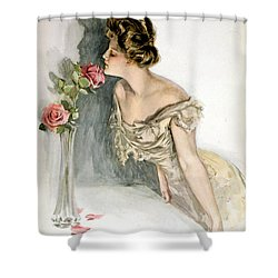 Smelling The Roses Shower Curtain by Harrison Fisher