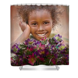Smile 2 Shower Curtain by Kume Bryant