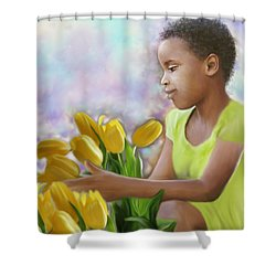 Smile 3 Shower Curtain by Kume Bryant