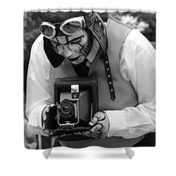 Smile For The Camera Shower Curtain by Kym Backland
