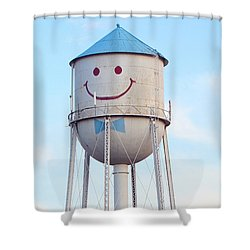 Shower Curtain featuring the photograph Smiley The Water Tower by Steve Augustin