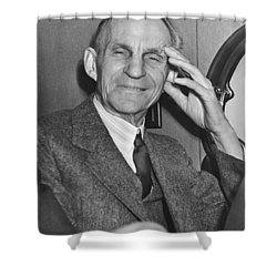 Smiling Henry Ford Shower Curtain by Underwood Archives