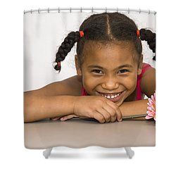 Smiling Pretty Shower Curtain by Carolyn Marshall