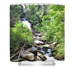 Smith Creek Downstream Of Anna Ruby Falls - 3 Shower Curtain