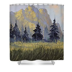 Smith Rock Oregon Shower Curtain