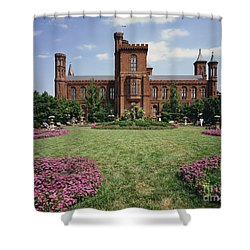 Smithsonian Institution Building Shower Curtain