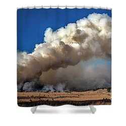 Smoke Column From The Norbeck Prescribed Fire. Shower Curtain