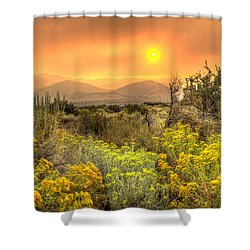 Smoke In The Air Shower Curtain by Dianne Phelps