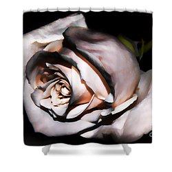 Smoked Rose Shower Curtain by Mariola Bitner