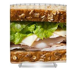 Smoked Turkey Sandwich Shower Curtain by Edward Fielding