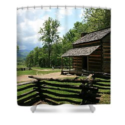 Smoky Mountain Cabin Shower Curtain