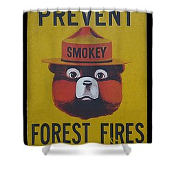 Smokey Says - Prevent Forest Fires Shower Curtain