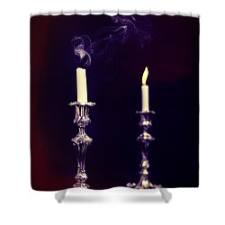 Smoking Candle Shower Curtain by Amanda Elwell