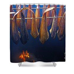 Smoking Fish Shower Curtain