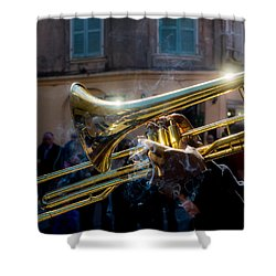 Smoking Hot Trombone Shower Curtain