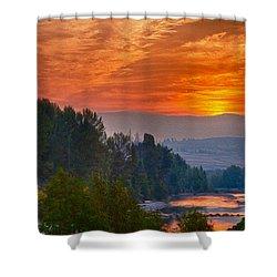Smoky Brilliance Shower Curtain by Omaste Witkowski