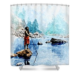 Smoky Day At The Sugar Bowl Shower Curtain by Rick Mosher