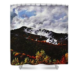 Smoky Mountain Angel Hair Shower Curtain by Craig T Burgwardt
