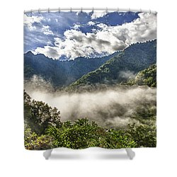 Smoky Mountain Chimney Tops Shower Curtain