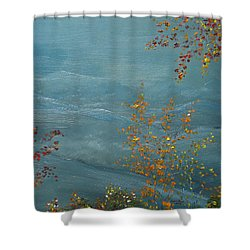 Shower Curtain featuring the painting Smoky Mountains In Autumn by Judith Rhue