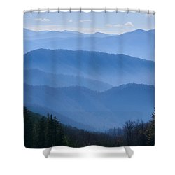 Smoky Mountains Shower Curtain by Melinda Fawver
