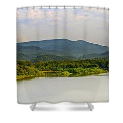 Smoky Mountains Shower Curtain by Frozen in Time Fine Art Photography