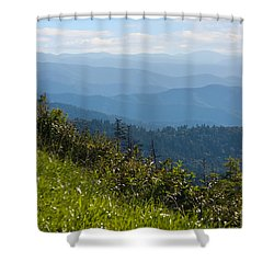 Smoky Mountains View Shower Curtain by Melinda Fawver