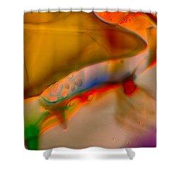Smooshed Shower Curtain by Omaste Witkowski