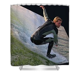 Smooth Ride Shower Curtain by Mariola Bitner