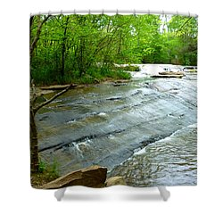 Shower Curtain featuring the photograph Smooth Waterfall by Pete Trenholm