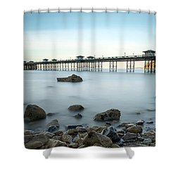 Smooth Waters Shower Curtain by Adrian Evans