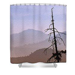 Snag On The Hill Shower Curtain by Richard Farrington