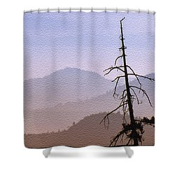 Shower Curtain featuring the digital art Snag On The Hill by Richard Farrington