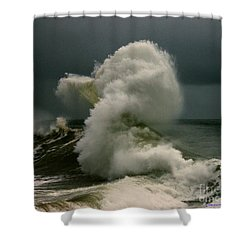 Snake Wave Shower Curtain