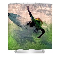 Snap Turn Shower Curtain by Michael Pickett