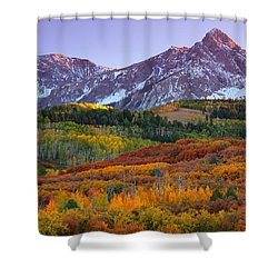 Sneffels Sunrise Shower Curtain by Darren  White