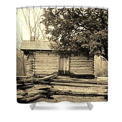 Snodgrass Cabin And Cannon Shower Curtain