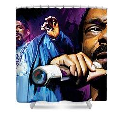 Snoop Dogg Artwork Shower Curtain by Sheraz A