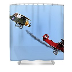 Snoopy And The Red Baron Shower Curtain