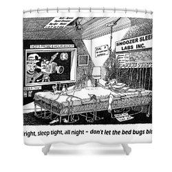 Snoozer Sleep Lab Study Shower Curtain