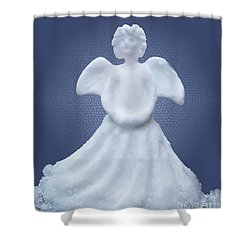 Snow Angel Shower Curtain by Barbara McMahon