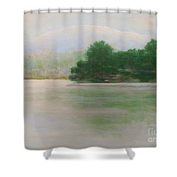 Snow At Beaver Lake Shower Curtain