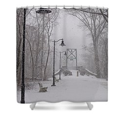 Snow At Bulls Island - 05 Shower Curtain