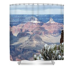 Snow At The Grand Canyon Shower Curtain